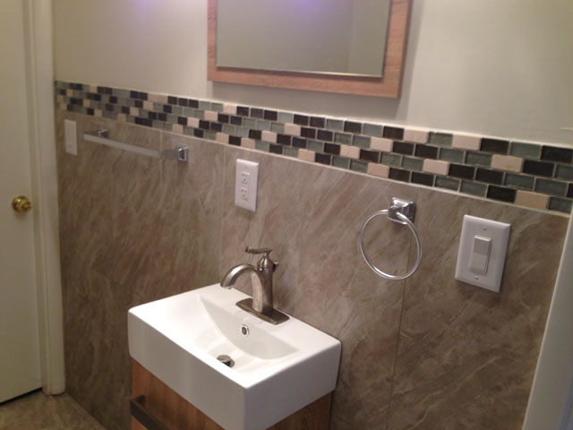 Finished a bathroom remodeling. Shower installation, tiling